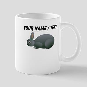 Custom Grey Bunny Mugs