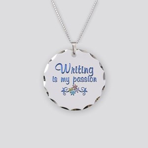 Writing Passion Necklace Circle Charm