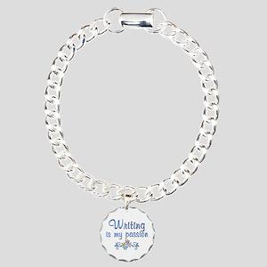Writing Passion Charm Bracelet, One Charm