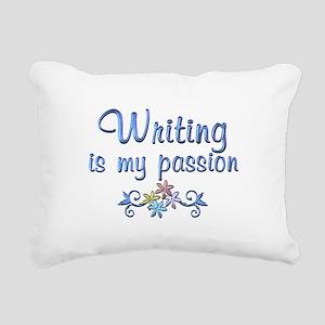 Writing Passion Rectangular Canvas Pillow