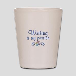 Writing Passion Shot Glass