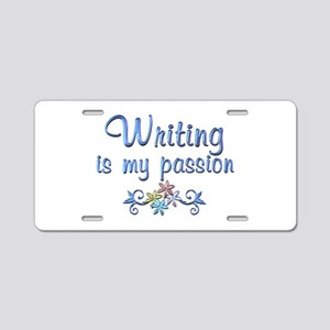 Writing Passion Aluminum License Plate