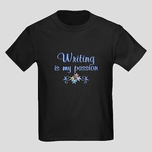 Writing Passion Kids Dark T-Shirt