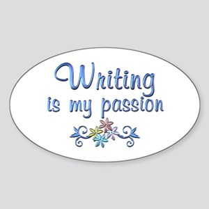 Writing Passion Sticker (Oval)
