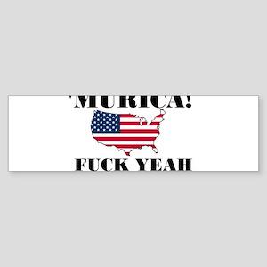 Murica Fuck Yeah Bumper Sticker