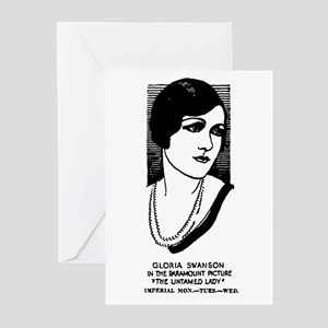 Gloria Swanson Untamed Greeting Cards (Package 10)