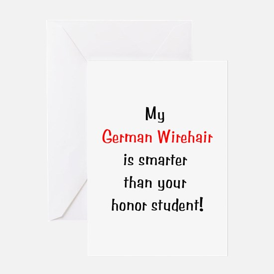 My German Wirehair is smarter... Greeting Card