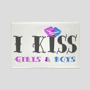 I Kiss Girls & Boys Rectangle Magnet