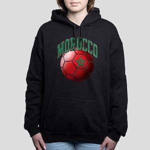 Flag of Morocco Soccer Ball Hooded Sweatshirt