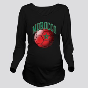 Flag of Morocco Socc Long Sleeve Maternity T-Shirt