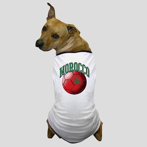 Flag of Morocco Soccer Ball Dog T-Shirt