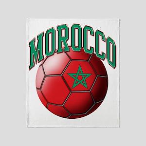 Flag of Morocco Soccer Ball Throw Blanket