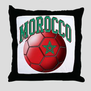 Flag of Morocco Soccer Ball Throw Pillow
