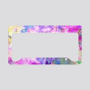 Girly Kitten Cat Romantic Flo License Plate Holder