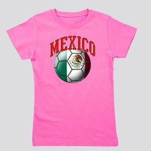 Flag of Mexico Soccer Ball Girl's Tee
