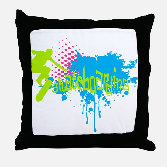 Graffiti skateboarding Throw Pillow