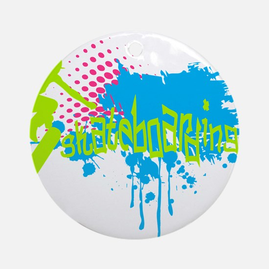 Graffiti skateboarding Ornament (Round)