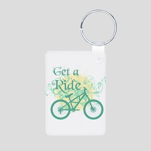 Get a ride Biking Aluminum Photo Keychain
