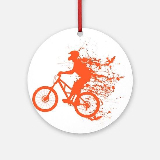 Biker ink splash Ornament (Round)
