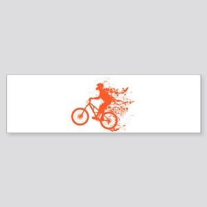 Biker ink splash Sticker (Bumper)