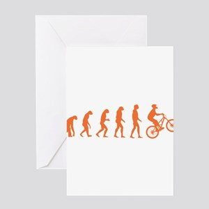 Evolution Biking Greeting Card