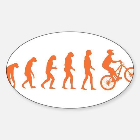 Evolution Biking Sticker (Oval)