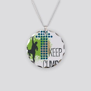 Keep climbing Necklace Circle Charm