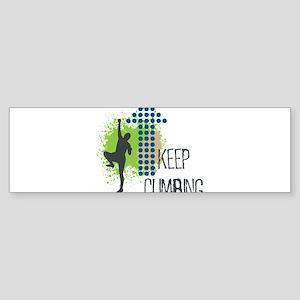 Keep climbing Sticker (Bumper)