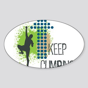 Keep climbing Sticker (Oval)