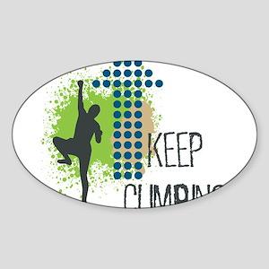 Keep climbing Sticker (Oval)