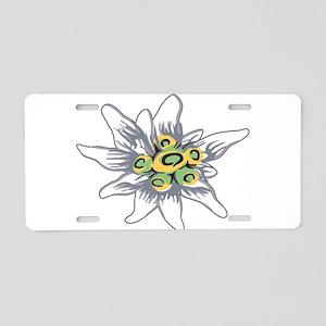 Edelweiss Aluminum License Plate