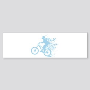 Biker splash blue Sticker (Bumper)