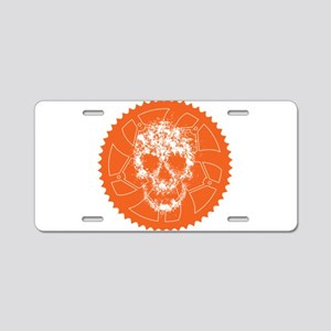 Chainring skull Aluminum License Plate