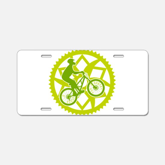 Biker chainring Aluminum License Plate