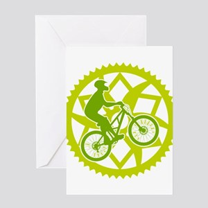 Biker chainring Greeting Card