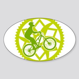 Biker chainring Sticker (Oval)