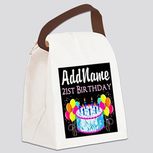 21 YR OLD PARTY Canvas Lunch Bag