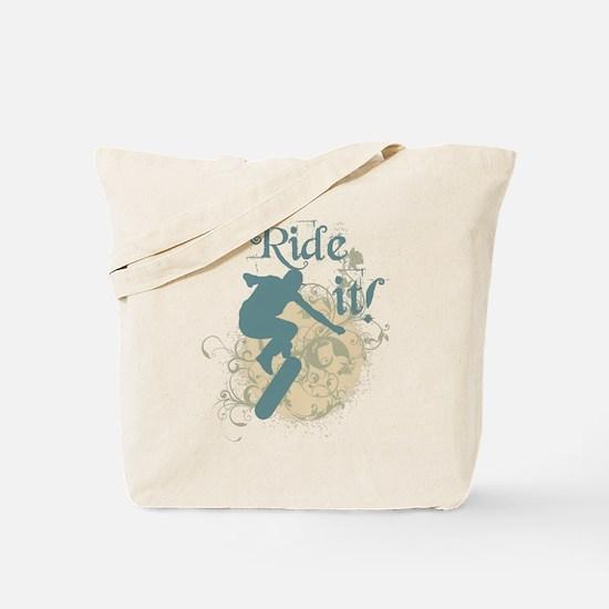 Ride it skateboarding Tote Bag
