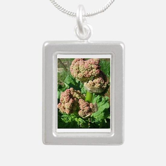 Ruby Rhubarb Silver Portrait Necklace