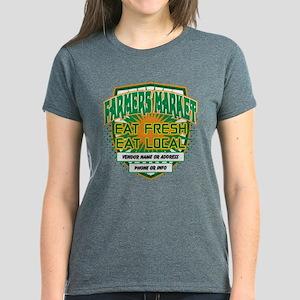 Personalized Farmers Market Women's Dark T-Shirt