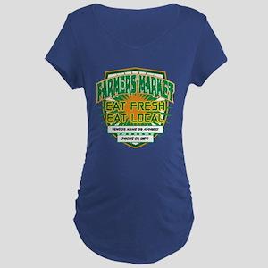 Personalized Farmers Market Maternity Dark T-Shirt