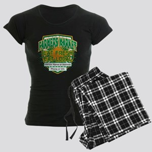 Personalized Farmers Market Women's Dark Pajamas