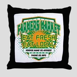 Personalized Farmers Market Throw Pillow