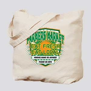 Personalized Farmers Market Tote Bag
