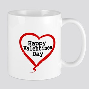 Happy Valentines Day with Large Heart Mugs