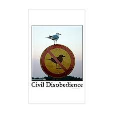 Civil Disobedience Rectangle Sticker