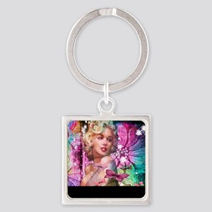 The look of Love Square Keychain