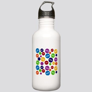 Colorful Love Polka Dots Sports Water Bottle