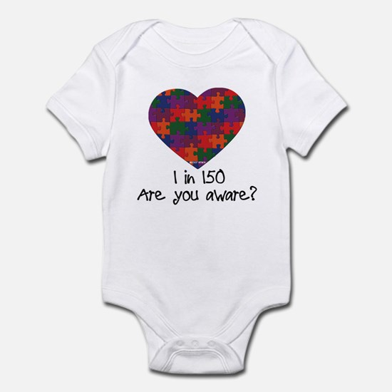 Autism Awareness Month Heart Infant Bodysuit