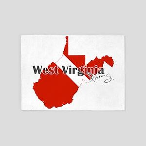 Diver West Virginia 5'x7'Area Rug